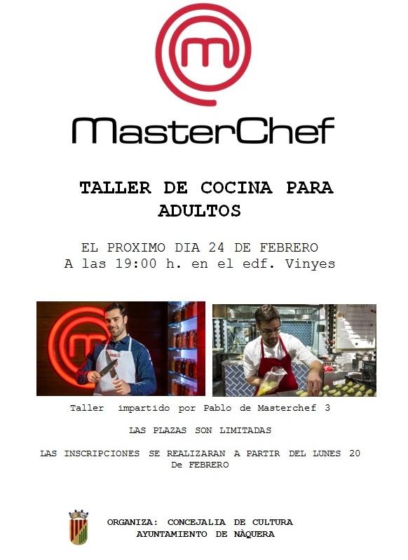 N quera acollir un curs de cuina impartit pel concursant - Curso de cocina masterchef ...