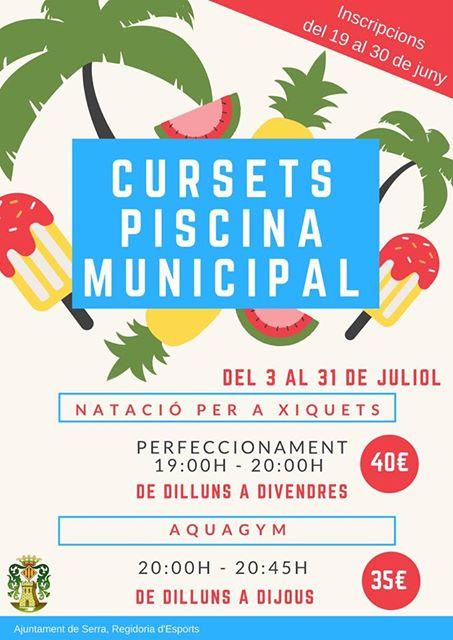 Cursos a la piscina municipal de serra noticias camp de for Piscina municipal lliria