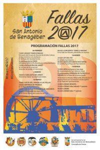 Cartel de Fallas 2017 de Sant Antoni de Benagéber