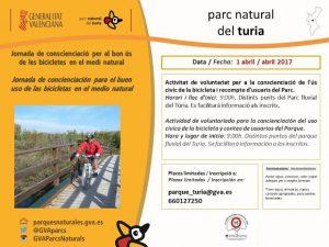 Cartel jornada bicicletas Parc Natural del Túria a T