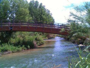 Crecida del río túria a su paso por Vilamarxant